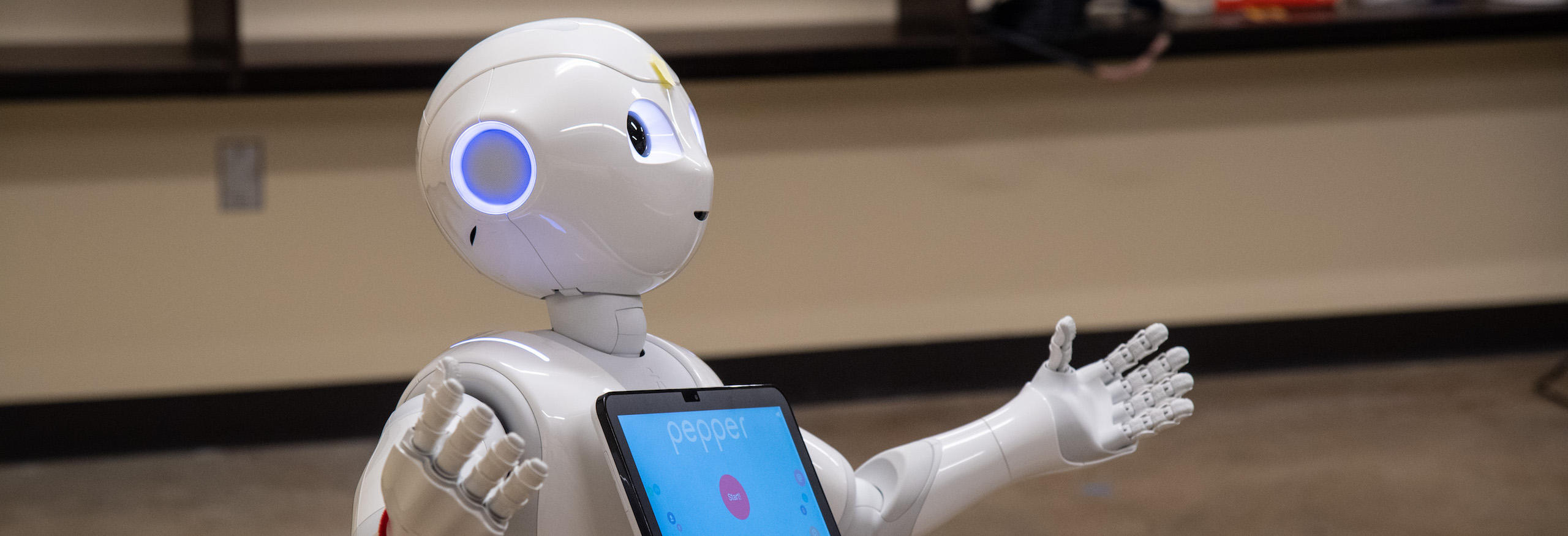 Pepper the robot sings nursery rhymes during a study