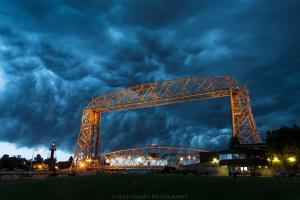 Duluth Lift Bridge with Storm Clouds