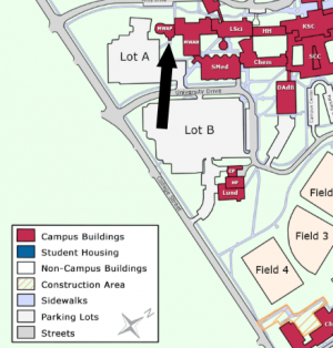 Planetarium on campus map