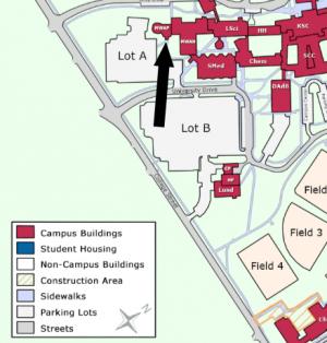 Planetarium on campus map