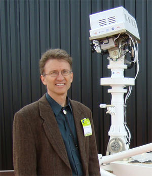 Roger Wiens with Mars Rover