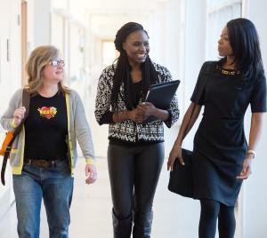 Dr. Anne Hinderliter, Akquaa Anye, and Dr. Ona Egbue