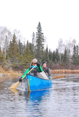 Wynston canoeing