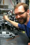 Image of Dr. Fred Davis at NSLS beamline X26A