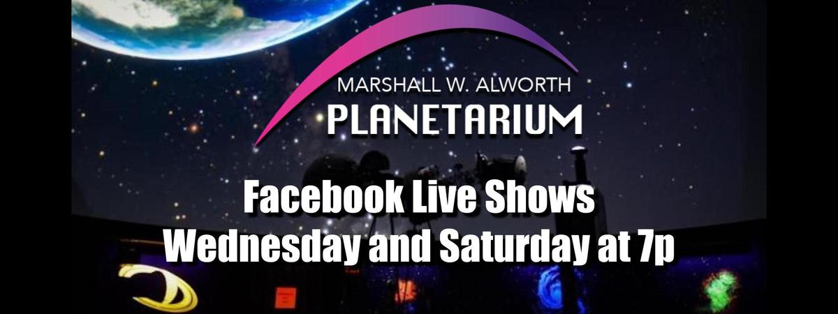 Facebook Live Weds and Sat at 7p