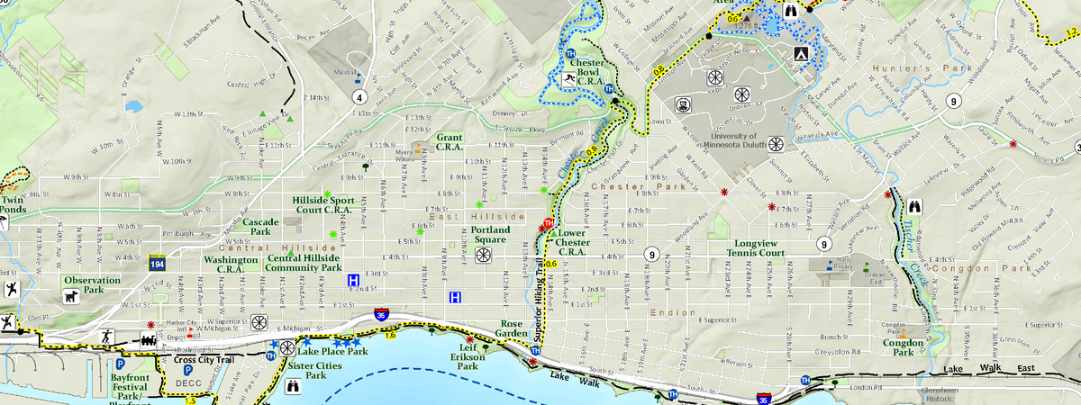 Duluth trails map