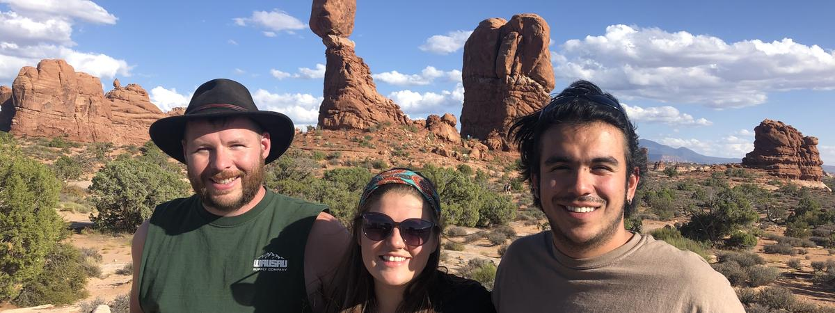 Students doing research in Utah