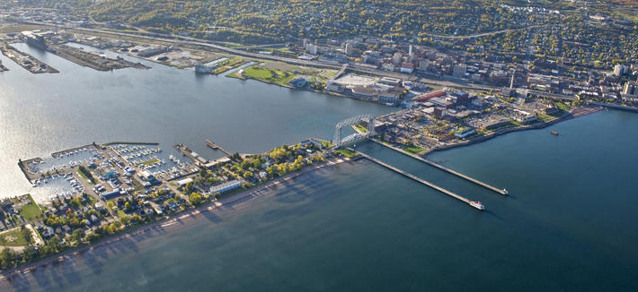 Aerial View Duluth