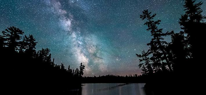 Ester Lake with Milky Way