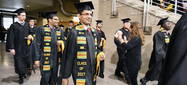 Graduates Entering Commencement Ceremony