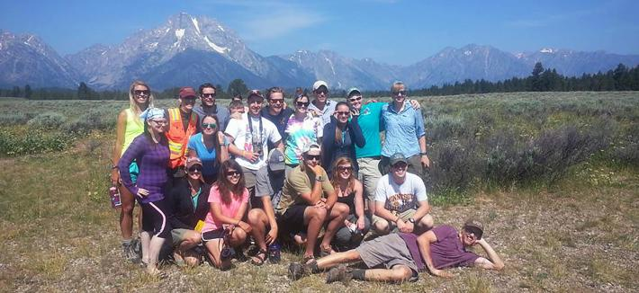 Field Camp Group at Grand Teton