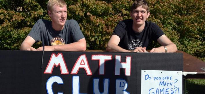 Math Club Members at Activities Fair
