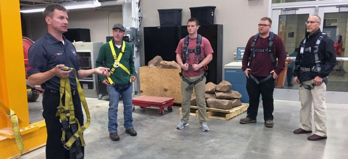 MEHS Safety Harness Demonstration