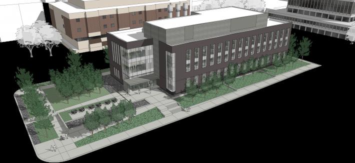 rendering of CAMS Building
