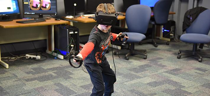 Kid in Virtual Reality