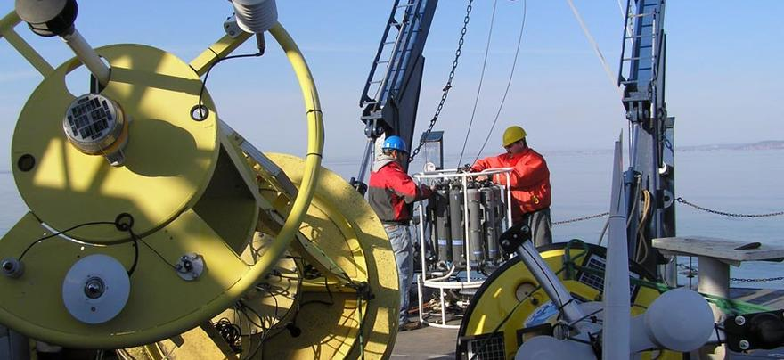Preparing to deploy meteorological buoys on Lake Superior