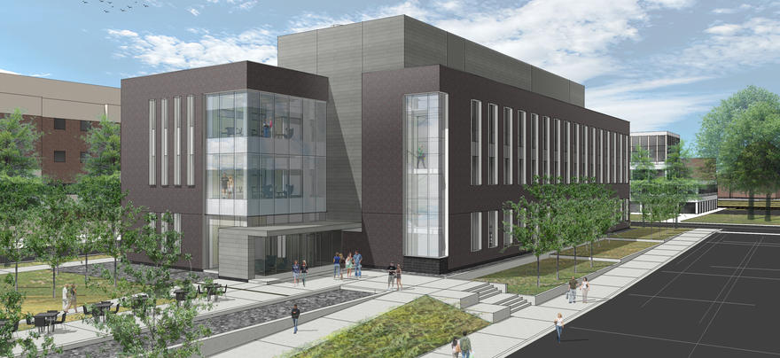 Artistic drawing of new Chemistry and Advanced Materials Science Building