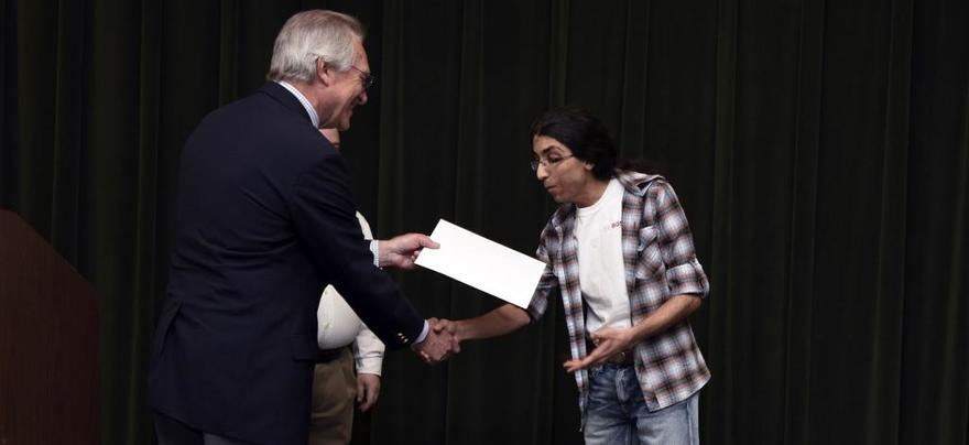 Graduate Student Receiving Award
