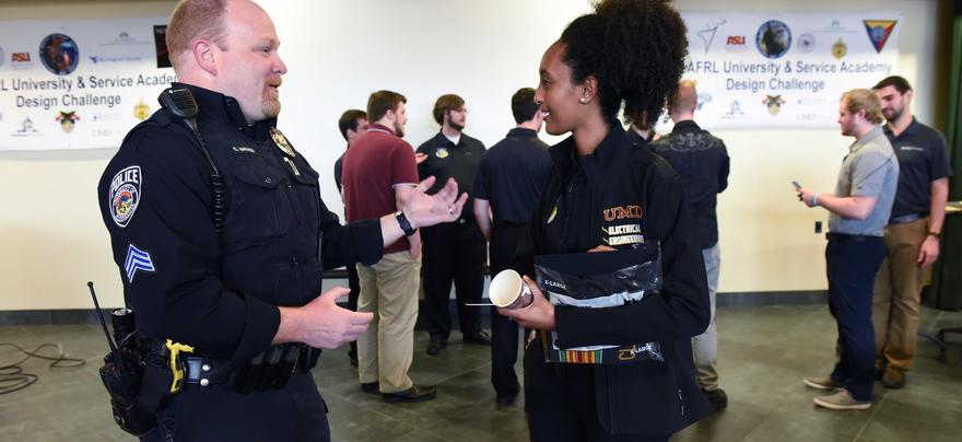 Student at Air Force Research Challenge win celebration