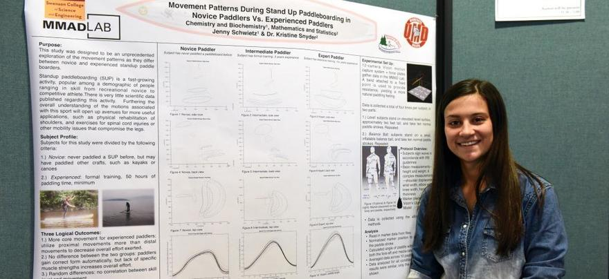 Student with UROP Poster