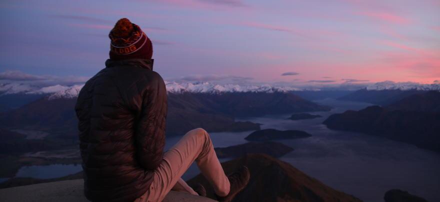 Matt Rigdon watching the sunrise