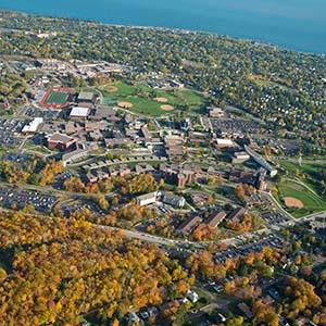 UMD Campus with Lake Superior