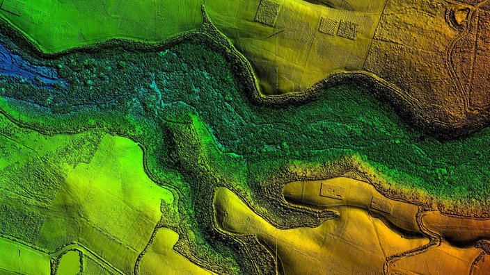 Colorful Map Topography