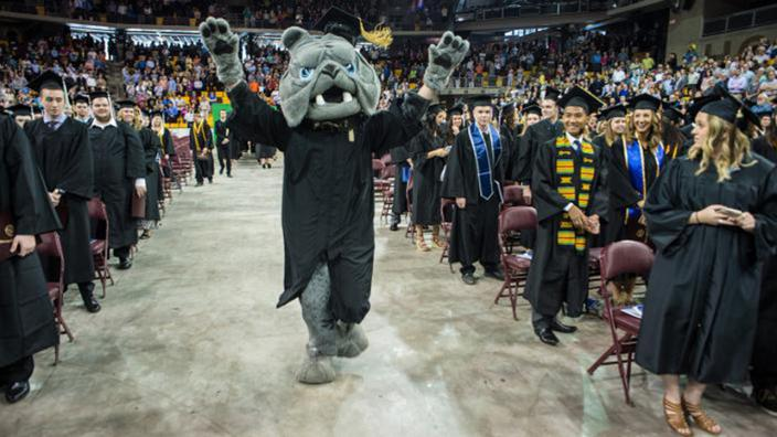 Champ at UMD Commencement