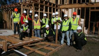 Construction workers on site