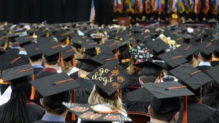 graduates at graduation