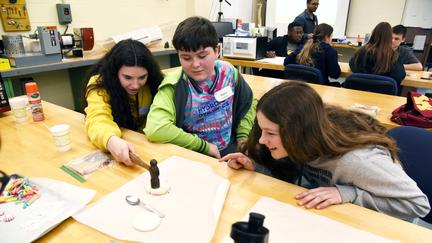 STEM Discovery Day students in lab
