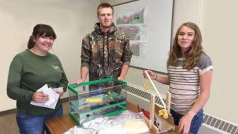 Students Making a Trebuchet