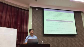 Dr. Liu teaching at a conference