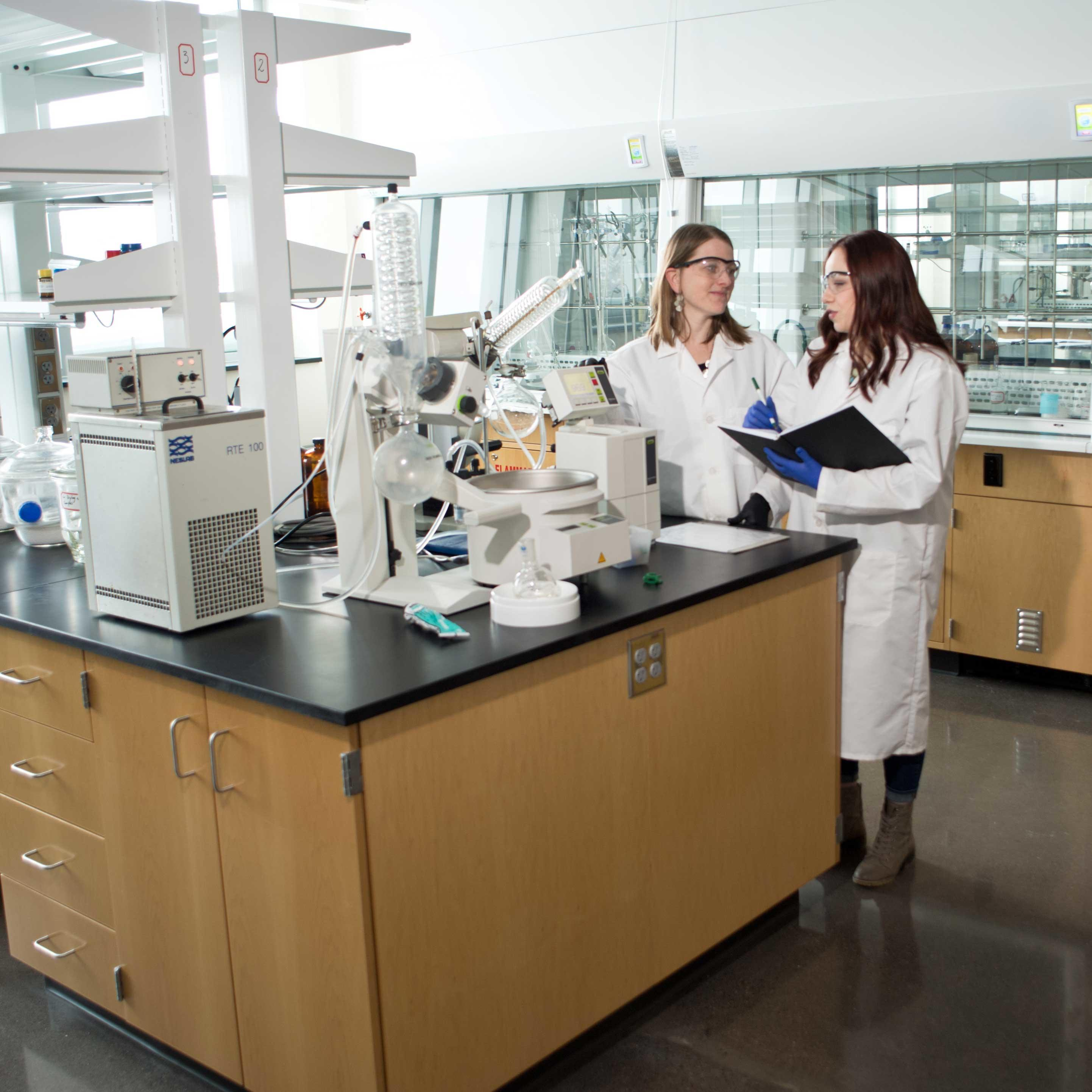 Student and Faculty in Lab