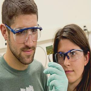 students in materials science lab