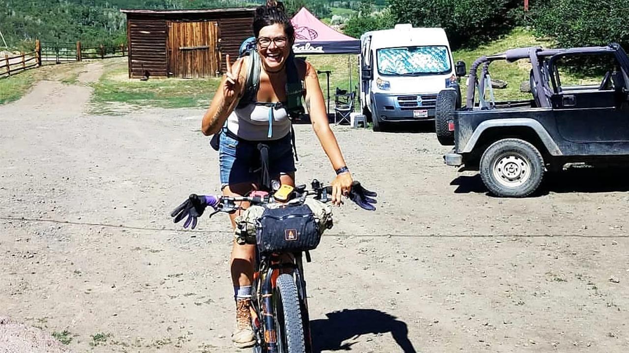Alexandera on Bike