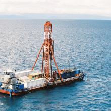 Drilling Rig on Lake Malawi