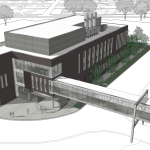 artistict drawing of chemistry and advanced materials science building